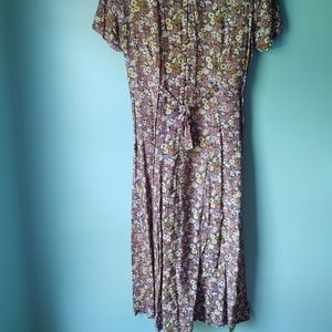 Vintage Dresses - Vintage 1990s Betsy Lauren Petites Floral Dress